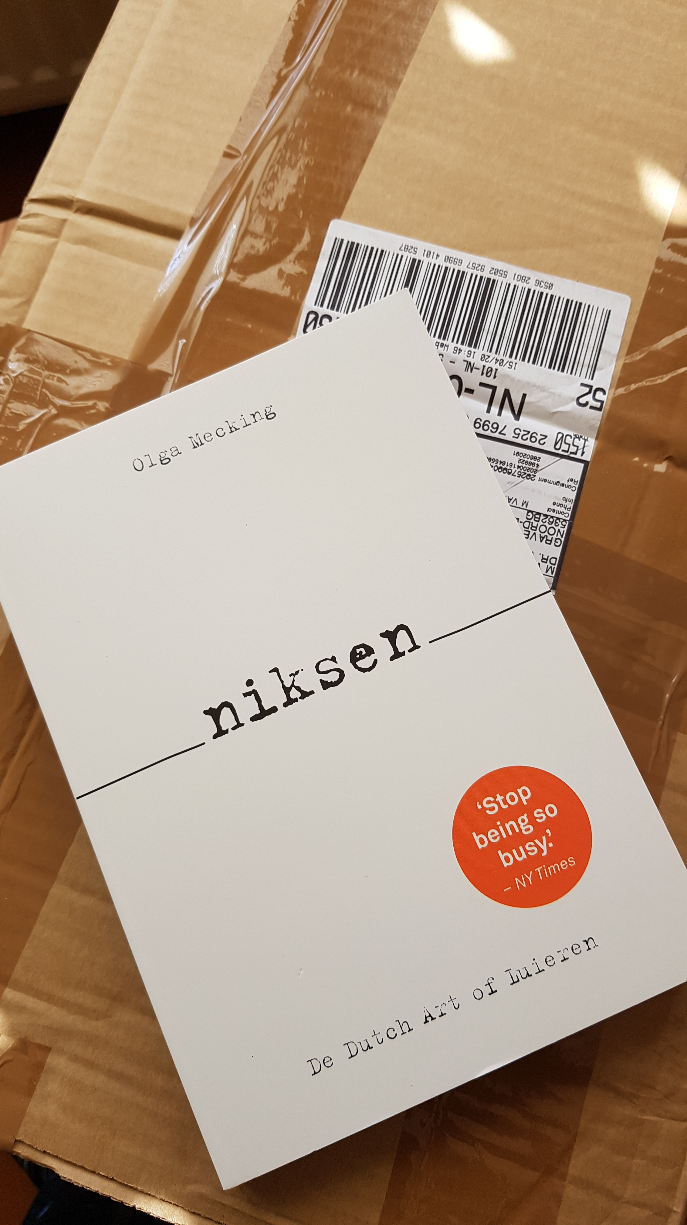 Niksen boek Olga Mecking Mirjam van Elst post PostNL